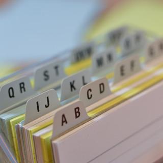 Adresskarten A bis Z
