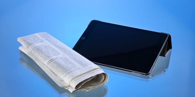 Tablet_Zeitung_leererBildschirm